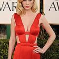 January Jones Wearing A Versace Dress by Everett