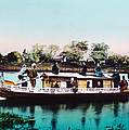 Japan, A Houseboat, Hand Colored by Everett