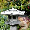 Japanese Garden Stone Snow Lantern by Elaine Plesser