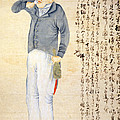 Japanese Print Of An American Sailor by Everett