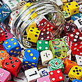 Jar Spilling Dice by Garry Gay