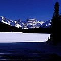 Jasper - Maligne Lake In Winter by Terry Elniski