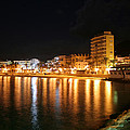 Javea Port At Night by Gaile Griffin Peers