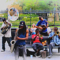 Jazz Band At Jackson Square by Bill Cannon