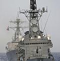 Jds Shimakaze Sails In Formation by Stocktrek Images