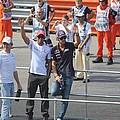Jean-eric Vergne Lewis Hamilton And Nico Rosberg by David Grant