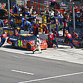 Jeff Gordon Pit Crew In Action by Kym Backland