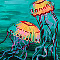 Jellyfish In Green Water by Tommy Midyette