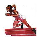 Jesse Owens by Emmanuel Baliyanga