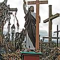 Jesus On The Hill Of Crosses. Lithuania by Ausra Huntington nee Paulauskaite