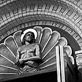 Jesus  Sculpture Above Cathedral Door Lintel by Daniel Hagerman