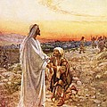 Jesus Withe The One Leper Who Returned To Give Thanks by William Brassey Hole