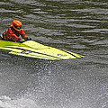Jetboat In A Race At Grants Pass Boatnik by Mick Anderson