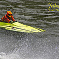 Jetboat In A Race At Grants Pass Boatnik With Text by Mick Anderson