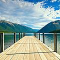 Jetty Of A Beautiful Lake  by U Schade