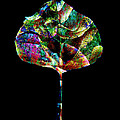 Jewel Tone Leaf by Ann Powell