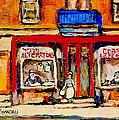 Jewish Montreal Vintage City Scenes De Bullion Street Cobbler by Carole Spandau