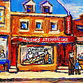 Jewish Montreal Vintage City Scenes Moishes St. Lawrence Street by Carole Spandau