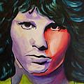 Jim Morrison by Lesley Paul