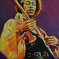 Jimi Hendrix  by Lesley Paul