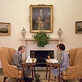 Jimmy Carter And Rosalynn Carter Having by Everett