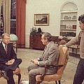 Jimmy Carter Prepares For An Interview by Everett