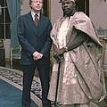Jimmy Carter With Nigerian Ruler by Everett