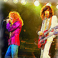 Jimmy Page And Robert Plant by Galeria Trompiz