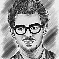 Joe Jonas Drawing by Kenal Louis