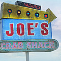 Joe's Crab Shack Retro Sign by Kathleen Grace