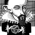Johannes Kepler, Caricature by Gary Brown
