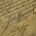 John Hancocks Signature by Todd Gipstein