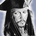 Johnny Depp As Captain Jack Sparrow In Pirates Of The Caribbean II by Jim Fitzpatrick