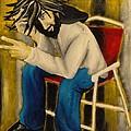 Joy With A Cigarette by Jean Kieffer