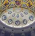 Jp Morgan Library Ornate Ceiling by Dave Mills
