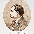 Jules A.h. De Goncourt (1830-1870). French Novelist: Engraving After A Contemporary Portrait On Enamel by Granger