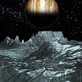 Jupiter From Europa, Artwork by Victor Habbick Visions
