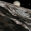 Jupiter From Ganymede, Artwork by Detlev Van Ravenswaay