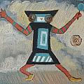 K Is For Kachina Detail From Childhood Quilt Painting by Dawn Senior-Trask