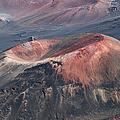 Kamaolii Cinder Cone - Haleakala Crater - View From Kalahaku  by Sharon Mau