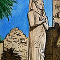 Karnak Temple Egypt by Irina Sztukowski