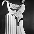 Kay Francis Modeling White-crepe by Everett