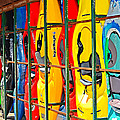 Kayaks In A Cage by Susan Leggett
