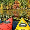 Kayaks In The Fall by Rick Frost