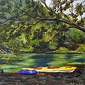 Kayaks On The Little Sandy by Tami Booher