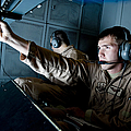 Kc-10 Extender Boom Operator Adjusts by Stocktrek Images