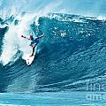 Kelly Slater At Pipeline Masters Contest by Paul Topp