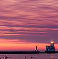 Kewaunee Lighthouse At Sunrise by Bill Pevlor