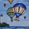 Kid's Art- Balloon Ride by Tatjana Popovska