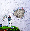 Kilauea Point Lighthouse On Noaa Chart by Mike Robles
